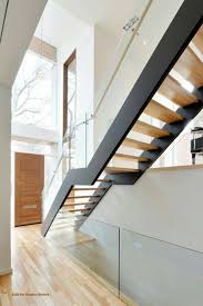 Free Standing Stairs Design Freestanding Stair With Metal Stringers Open Risers And Glass