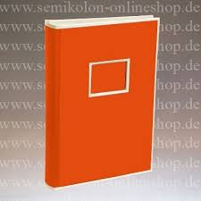300 pocket photo album 300 pocket album orange semikolon papeterie münchen