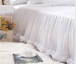 White Bed Skirt Queen Bedroom Dust Ruffles For Queen Beds Bed Skirts Queen Lace