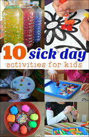 10 sick day activities mess for less