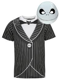 Jack Skeleton Costume Nightmare Before Christmas Jack Skellington Teenage Halloween