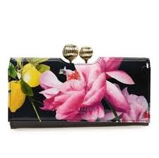 bloom wallet ted baker black multi marggo citrus bloom flower wallet tradesy