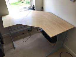used corner desk with printer shelf in sandy bedfordshire gumtree
