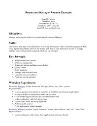 resume objective statement for restaurant management resume objective exles for restaurant server therpgmovie