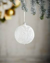 christborn wegner white silver collection clear snowy trees ornament