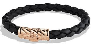 gold rubber bracelet images Lyst david yurman chevron rubber weave bracelet in rose gold jpeg