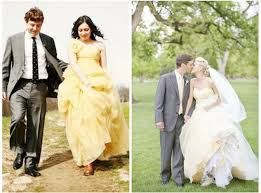 yellow wedding dress wedding dresses 2012 wedding trends