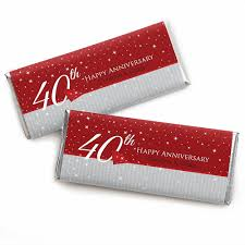 anniversary favors 40th anniversary personalized wedding anniversary candy bar
