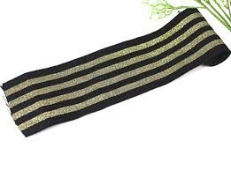 black and gold ribbon 72mm elastic stretch black gold ribbon scrapbooking lace trim
