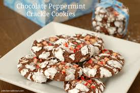 chocolate peppermint crackle cookies food blogger cookie swap