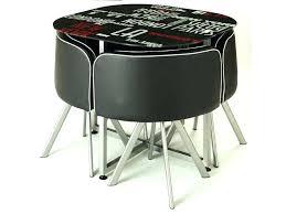 table de cuisine avec chaise encastrable table de jardin avec chaise encastrable gracieux table