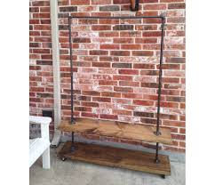 garment rack with bottom shelf industrial clothing rack for
