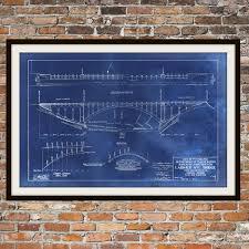 What Size Paper Are Blueprints Printed On Blueprint Art Of Larimer Bridge Pittsburgh Technical Drawings