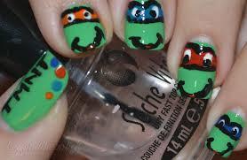 nail art thursday teenage mutant ninja turtles beyond the polish