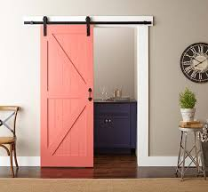 Interior Barn Door Hardware Home Depot Easy Barn Door Paint And Install The Home Depot Intended For