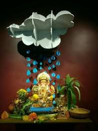 Home Ganpati Decoration Ganpati Decoration Ideas At Home Decoration For Pooja
