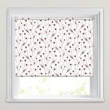 Aubergine Roman Blinds Dusky Rose Aubergine U0026 White Flower Head Patterned Roller Blinds