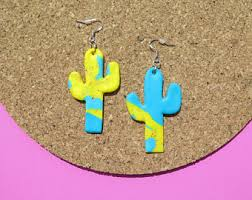 eighties earrings dangle earrings eighties inspired bright bold ring