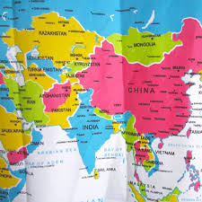 World Map Fabric by Fabric Map Shower Curtain