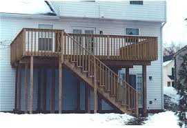 stunning deck designs for 2 story house photos home decorating