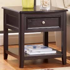 Ashley Furniture End Tables Rectangular End Table With Drawer And Bottom Shelf By Signature