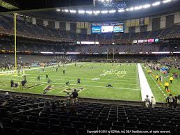mercedes dome orleans mercedes superdome section 126 seat views seatgeek