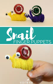 Pinterest Crafts For Kids To Make - simple snail finger puppet puppet crafts book activities and