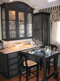 Corner Dining Hutch Kitchen Cool Black Dining Room Hutch Furniture With White