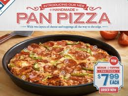 domino pizza hand tossed grubgrade review pan pizza from domino s