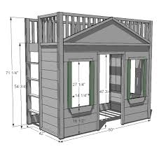 Wood Plans Bunk Bed by Ana White Build A Little Cottage Loft Bed Free And Easy Diy