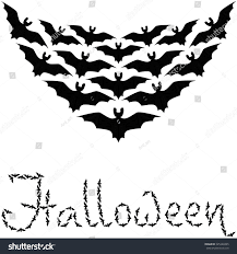 cute background halloween pattern many bats stock vector 325248365