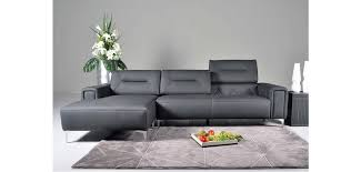 Contemporary Black Leather Sofa 5137 Contemporary Black Italian Leather Sofa Sectional