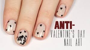 anti valentine u0027s day nail art tutorial packapunchpolish youtube