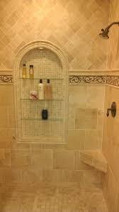 shower niche tile ideas traditional travertine with travrtine