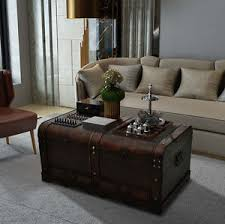 large vintage coffee table vintage coffee table large storage box industrial style blanket old