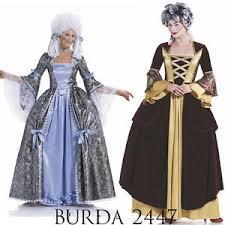 antoinette costume burda 2447 sewing pattern georgian antoinette costumes women
