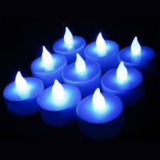blue tea light candles 100pcs lot led blue candle flickering flicker tea candles tea lights