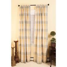 Silk Plaid Drapes Plaid Silk Curtain Panels Home Design And Decoration