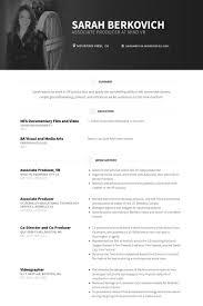 Film Resume Sample by Associate Producer Resume Samples Visualcv Resume Samples Database