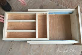 add a drawer under a table ana white kitchen drawer organizer adding a double drawer to