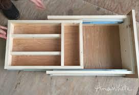 Kitchen Drawer Cabinets Ana White Kitchen Drawer Organizer Adding A Double Drawer To