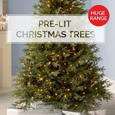 werchristmas pre lit trees fibre optic trees