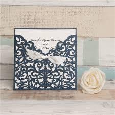 Wholesale Wedding Invitations Elegant White Laser Cut Ribbon Bow Wholesale Wedding Invitation