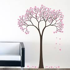 decorette made in singapore vinyl wall decals sakura blossom tree