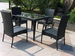 Black Patio Chair Furniture Ideas Black Wicker Patio Furniture Sets With Small