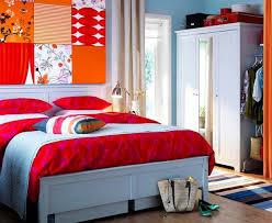 orange and blue bedroom home living room ideas