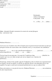lettre de motivation commis de cuisine d饕utant exemple de lettre de motivation d été plongeur ou commis de
