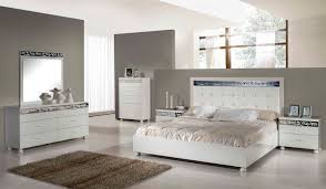 3 Piece White Bedroom Set White And Grey Bedroom Furniture Izfurniture