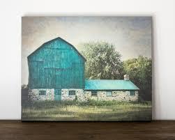 Rustic Wall Decor Blue Barn Canvas Art Rustic Wall Decor Farm Photography