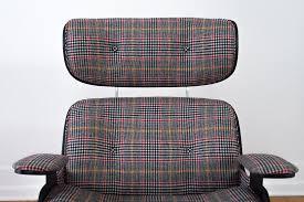plaid eames lounger u0026 ottoman homestead seattle
